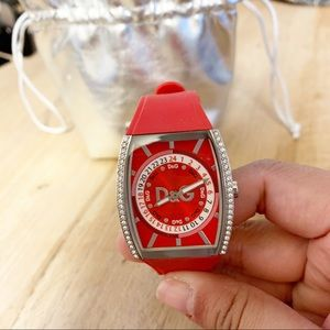 Dolce & Gabbana Red Silicon Watch